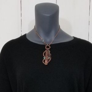 Handcrafted copper pendant/choker